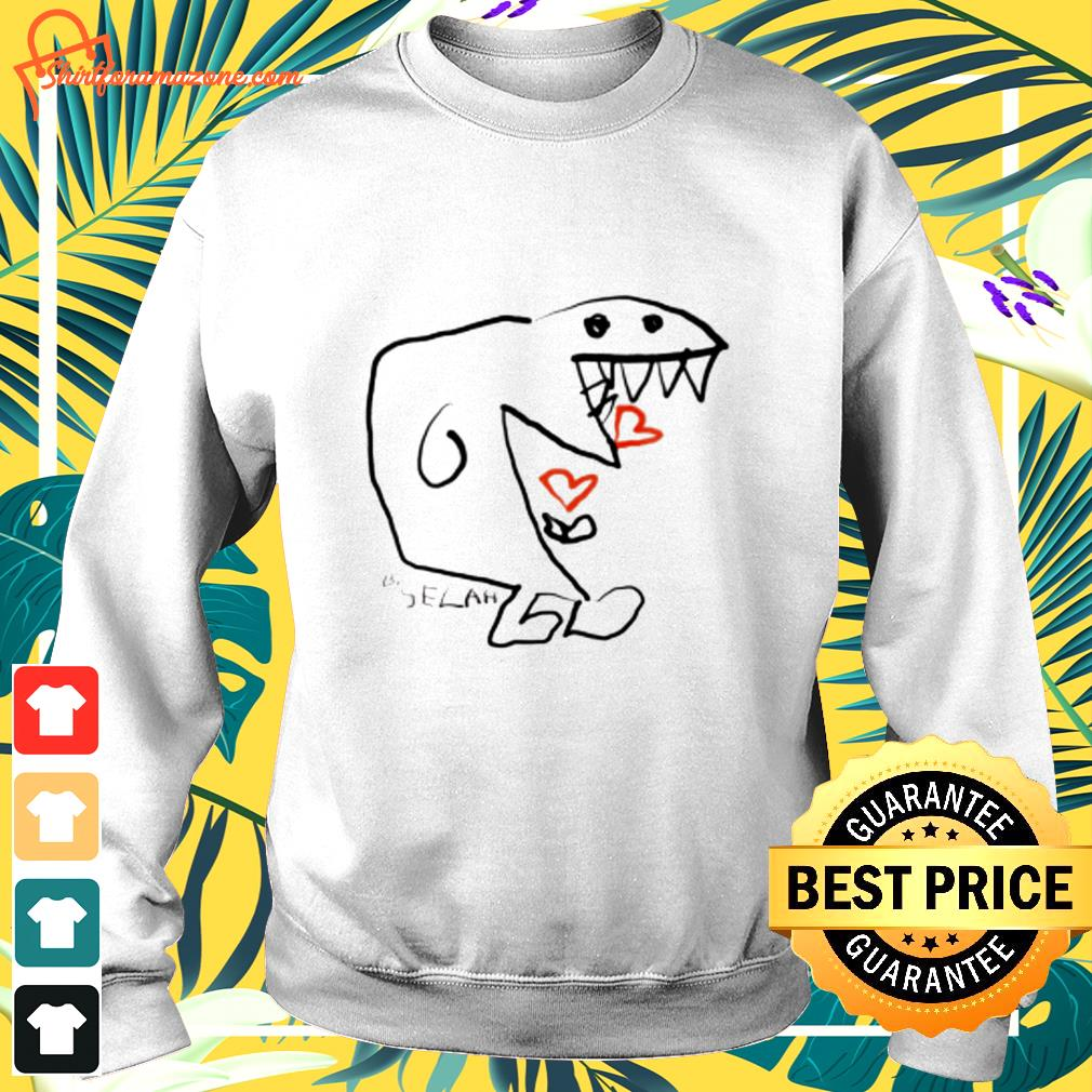 Monster eating hearts by selah sweater