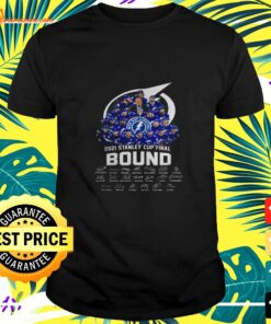 Tampa Bay Lightning 2021 Stanley Cup Final Bound signature shirt