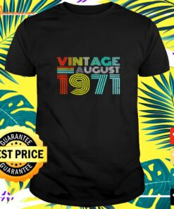 Vintage August 1971 50 years old shirt