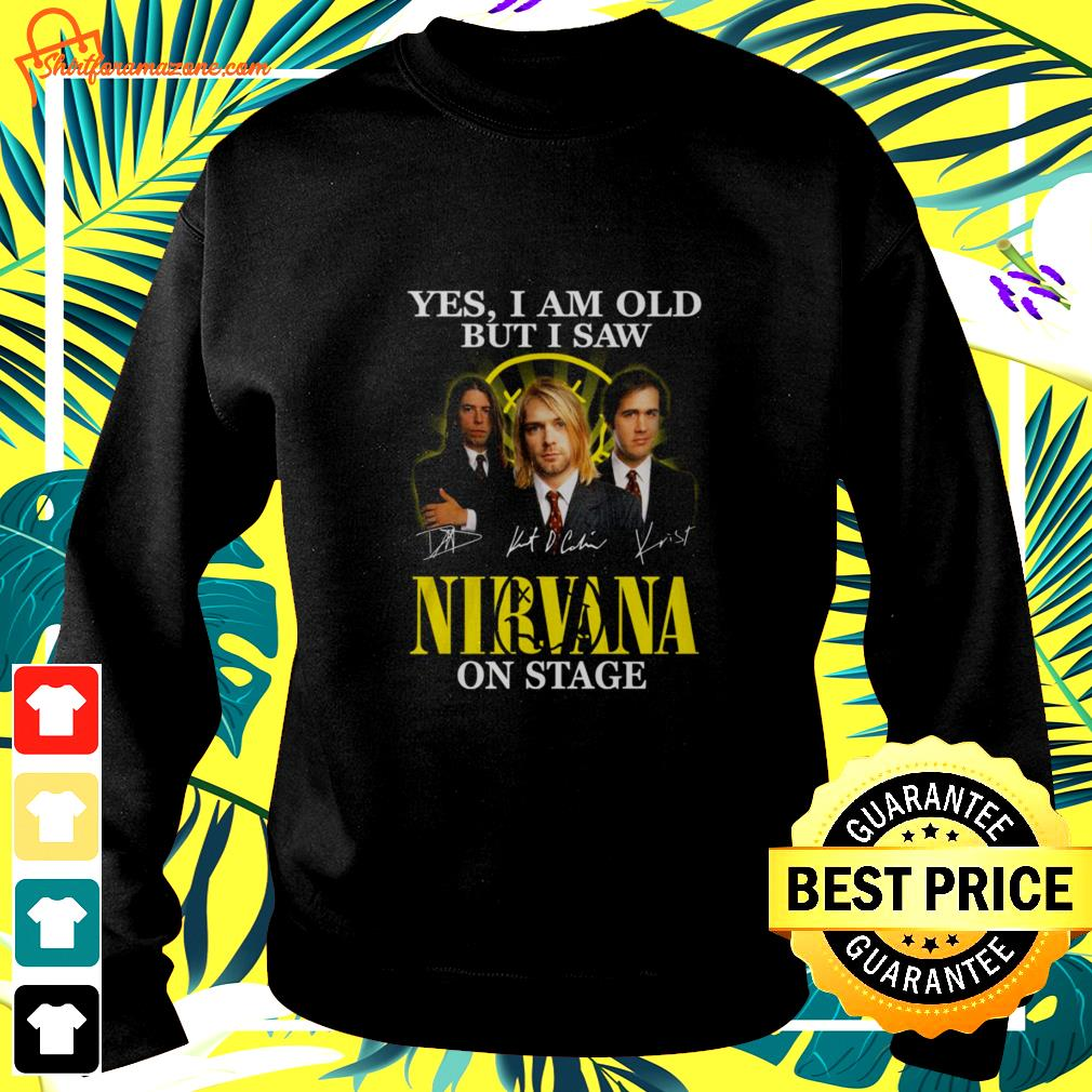 Yes I am old but I saw Nirvana on stage signature sweater