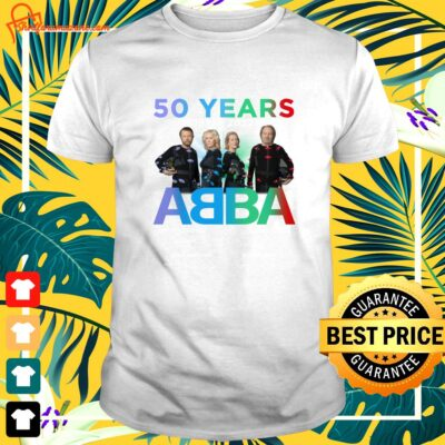 ABBA 50 Years 1972-2022 thank you for the memories signatures shirt