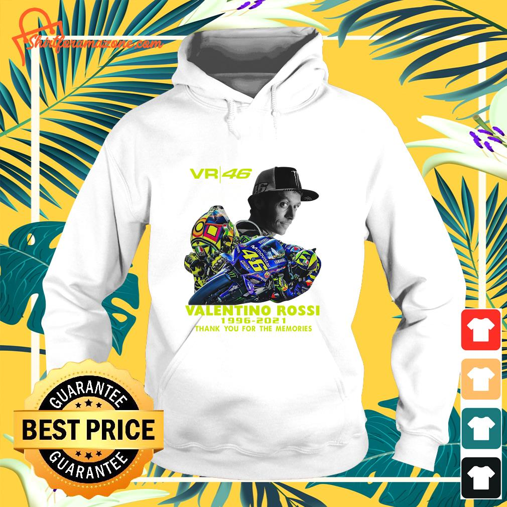 VR46 signature Valentino Rossi 1996 2021 thank you for the memories hoodie