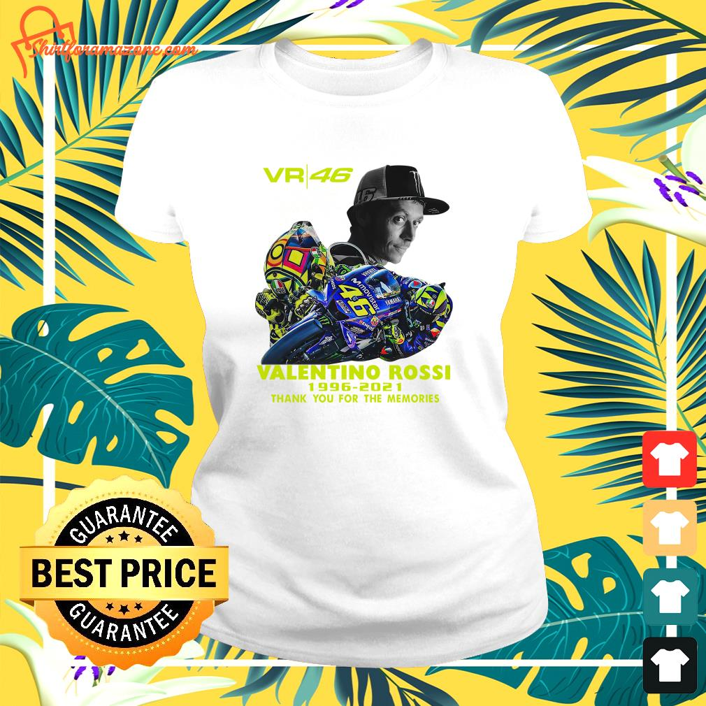 VR46 signature Valentino Rossi 1996 2021 thank you for the memories ladies-tee