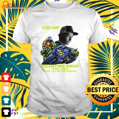 VR46 signature Valentino Rossi 1996 2021 thank you for the memories shirt