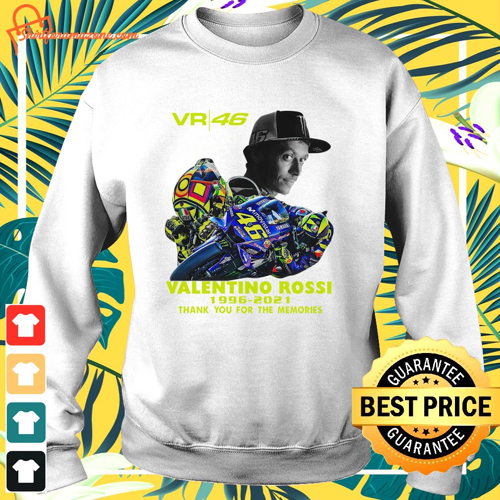 VR46 signature Valentino Rossi 1996 2021 thank you for the memories sweater